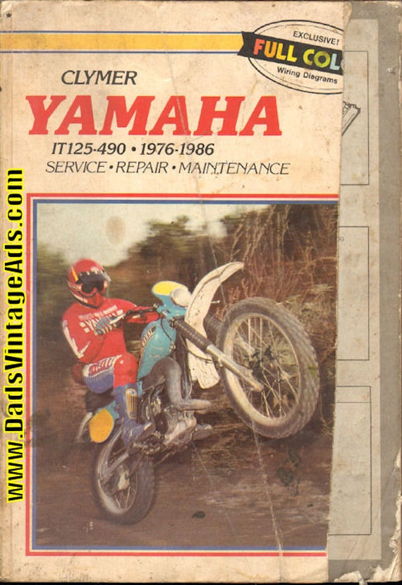 1976-1986 Yamaha IT125-IT490 Clymer Service Repair Manual #mm125