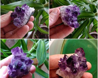 Uruguayan Amethyst Cluster Dark Purple Crystals with Points - Meditation Stone