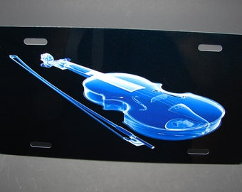 VIOLIN NOVELTY LICENSE For Cars Music Lover License Plate