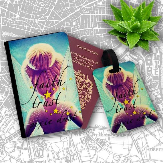 Faith Trust Pixie Dust Tinkerbell Disney Fairy Passport Wallet Card