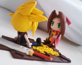 Figure Aeris and Cloud - Final Fantasy VII