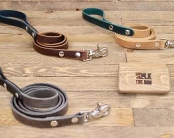 Leather leash, Dog leash, Dog lead, Handmade dog leash, Dog walk, Lead, Everyday lead, Leash, Dog gift, Blue leash.