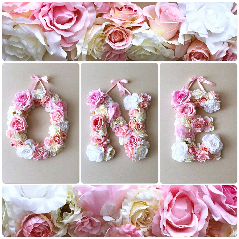 First birthday 1st birthday photo prop Flower Letters
