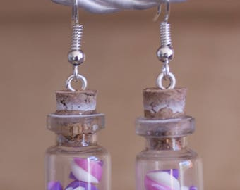 Vials of Marshmallow earrings