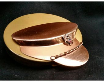 Vintage MidCentury Army Cap Compact