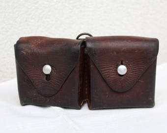 Swiss Army Leather Ammunition Bag, Beltbag from 1951 (Ballwil)