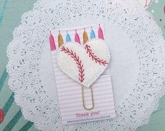 planner clip - baseball heart