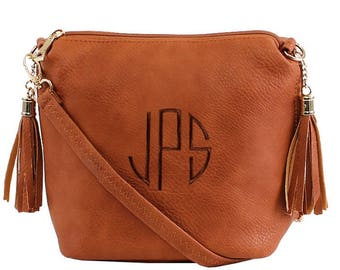 CONCEALED  BROWN Bag   ,Monogrammed Crossbody Bag, Personalized Purse, concealed carry cross body bag, Left and Right-hand Draw