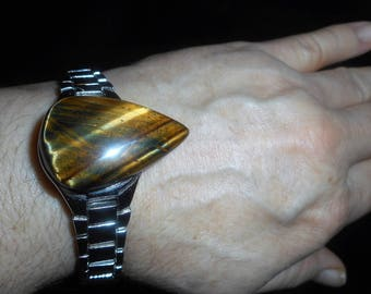 AAA Tigers eye on a sterling silver overlay