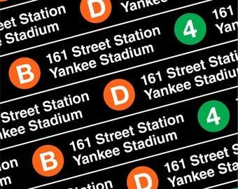 NYC Subway Station Stop Tilted 161st St. Yankee Stadium Coaster