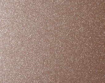 "168 Rosy Gold 12""x 12""  StyleTech 2000 Ultra Metallic Glitter Adhesive Indoor / Outdoor Vinyl - Similar to Oracal 651"