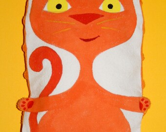Small heating pad-orange cat - OOAK