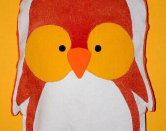 Large heating pad-orange Penguin - OOAK