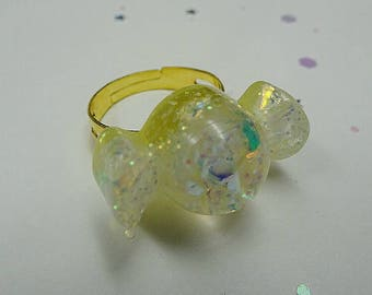 Yellow Sparkle Candy Ring