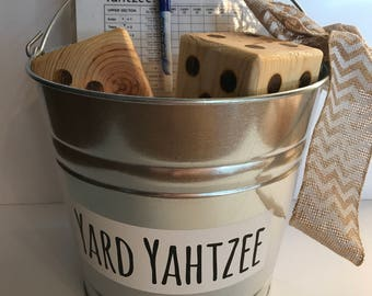 Yard Yahtzee, Yardzee, Outdoor Game