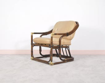 Mid-Century Bamboo Tub Chair