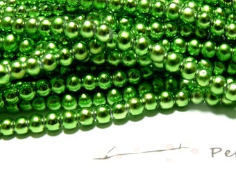 TOP price 100 glass Pearl 4mm beads (wire)