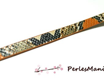 1.2 m cord 10mm flat Imitation snake Orange and black H508