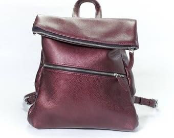 Women leather backpack, women backpack purse, small backpack purse, school backpack, leather backpack, girls backpack, leather rucksack