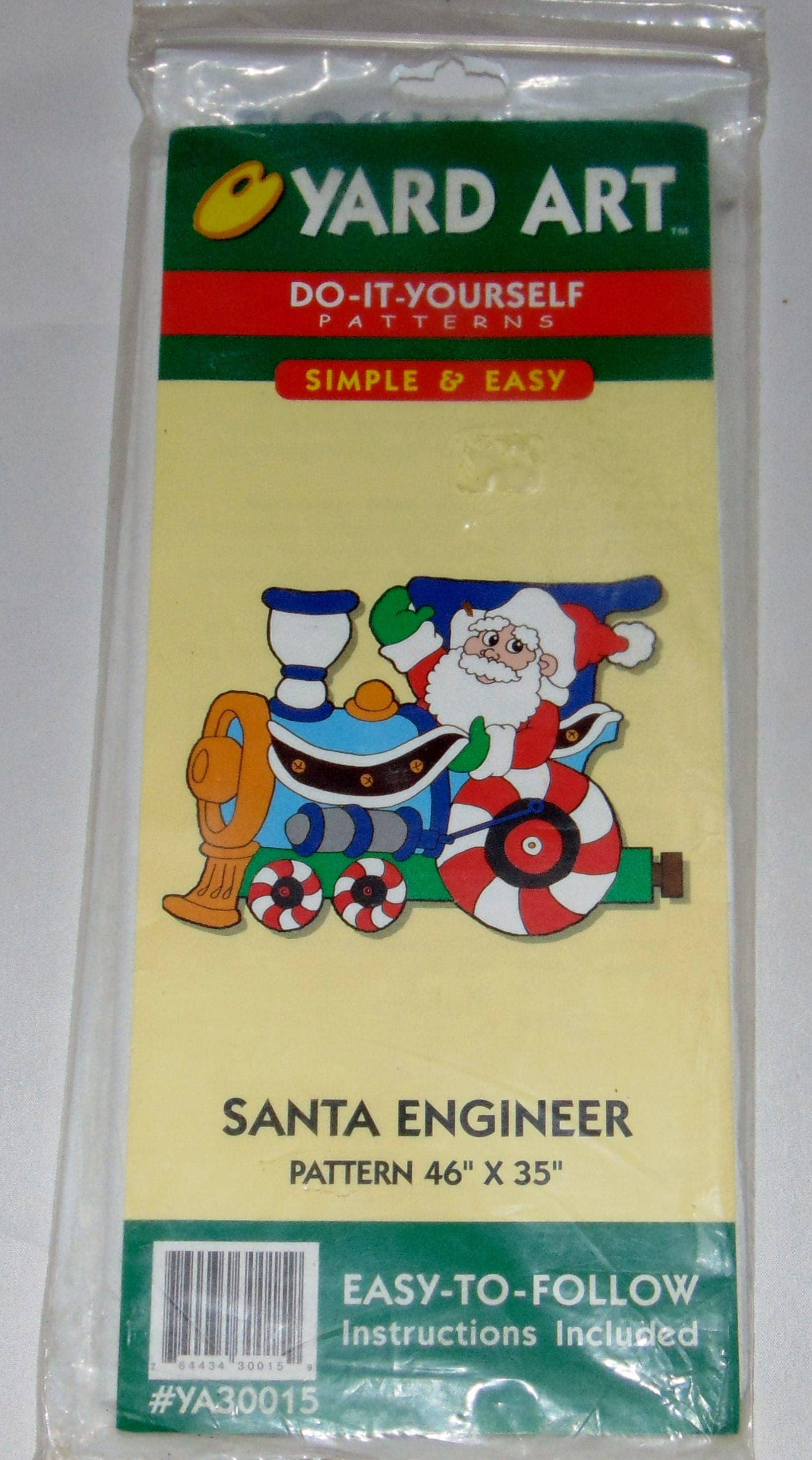 Yard art do it yourself patterns simple and easy santa engineer sold by craftsnsupplies solutioingenieria Choice Image