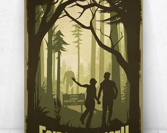 Friday The 13th Movie Poster Illustration / Friday The 13th Movie Poster / Movie Poster / Friday The 13th