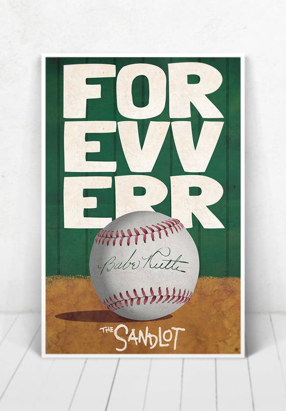 The Sandlot Movie Poster Illustration / Movie Poster / The Sandlot Movie Poster / The Sandlot