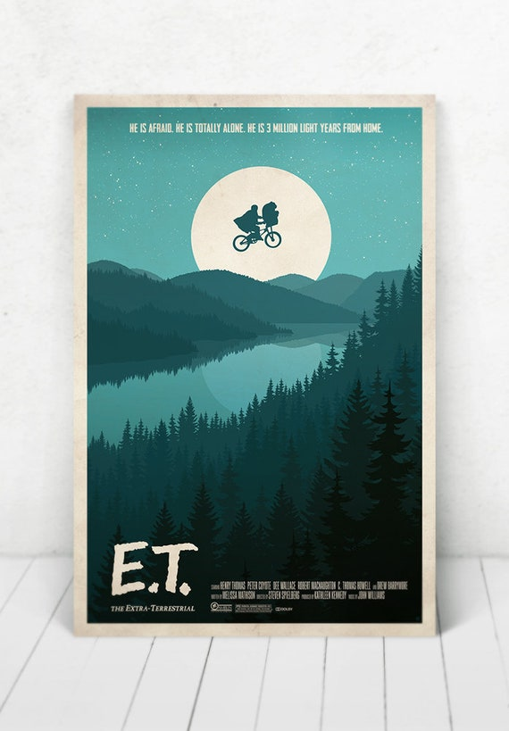 E.T. The Extraterrestrial Poster - Illustration / E.T. The Extraterrestrial / Steven Spielberg