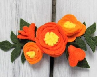 ELENA of AVALOR inspired Wool blend felt flowers
