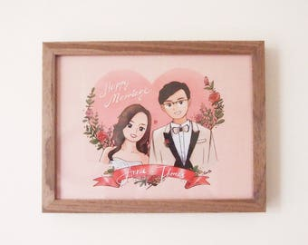 Custom wedding/couple illustration - can be humans or animals drawing