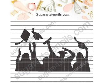 Graduation cookie stencil NB90020