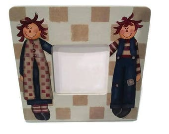 Raggedy Ann and Andy Picture Frame