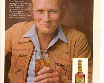 1974 IW Harper Bourbon Whiskey vintage magazine ad Advertisement 1706