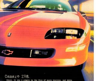 1997 Chevolet Camaro Z28 vintage magazine ad wall decor man cave man gift 1706