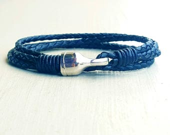 Leather Bracelet genuine hook