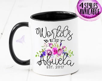 Abuela Mug, Gift For Abuela, World's Best, New Abuela, Grandma Mug, Spanish Pregnancy Announcement, Abuela, Pregnancy Reveal, Baby CM1045