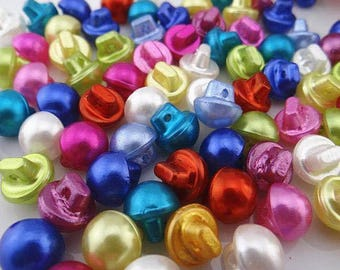 10 buttons round acrylic oval 10mm