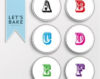 Spell anything you wish,Letters cupcake topper, edible, cupcake toppers,personalised cupcake topper, custom cupcake topper,edible,cupcake