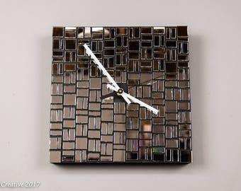 Mirror wall clock Etsy