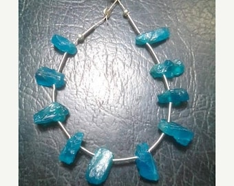80% OFF SALE 10 Pieces Natural Blue Apatite Rough Beads