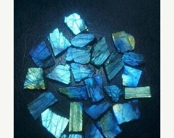 80% OFF SALE 10 Pieces Natural Labradorite Rough Slabs