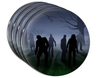 Rise Of The Zombie Horde Acrylic Coaster Set Of 4