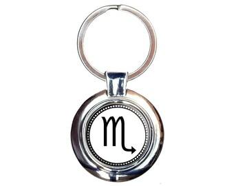 Zodiac Sign Scorpio Keychain Key Ring