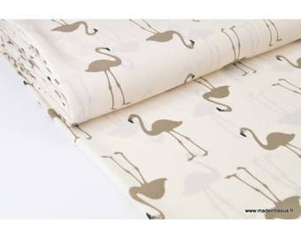 Flamingos x50cm printed flowing polyester fabric