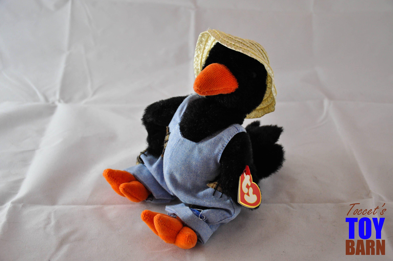 Cawley The Crow 1993 Vintage Ty Attic Treasure Beanie Baby