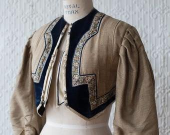Structured Silk Trimmed Edwardian Bolero