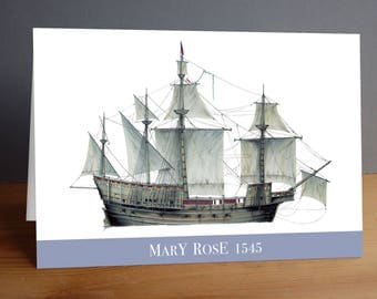 Mary Rose 1545 greeting card