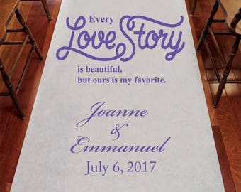 I Love You To The Moon And Back Personalized Aisle Runner
