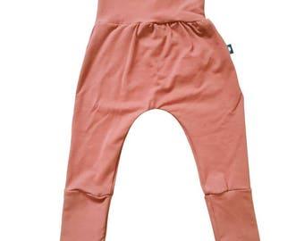 Scalable, tailored, harem pants, Grow Up, pants, baby, child, size, plain waistband