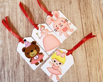 Unique Handmade Tags, Birthday Gift Tags, Birthday Tags, Cute Gift Tags, Character Tags, Animal Tags, Princess Tags, Gift Wrapping.