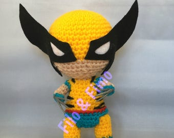 Wolverine (Comics Costume) / Logan - X Men - Chibi Doll Amigurumi